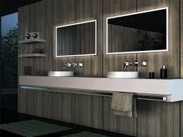 led lit bathroom mirrors wonderful bathroom mirror with led lights in apartment modern
