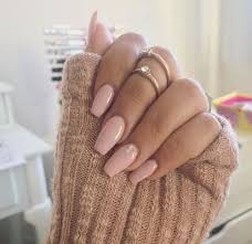 soft pink nail with a touch of bling pictures