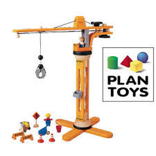 plan toys plancity toy crane set blueberry forest toys