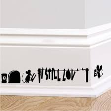 online get cheap wall mural sticker aliexpress alibaba group hot funny cartoon mouse hole wall stickers for kids rooms home decals decorative