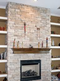 interior perfect basement stone veneer fireplace design natural