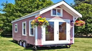 tiny houses on foundations tiny house on wheels modern chic pink exterior small home design