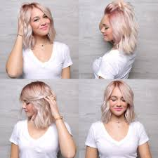 pink roots faded to blonde unique u0026 fun hair color pinterest