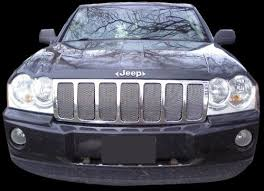 jeep srt8 grill amazon com jeep grand chrome mesh grille kit 2005 2007