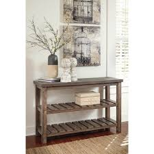 Overstock Sofa Tables Signature Design By Ashley Vennilux Grayish Brown Sofa Table