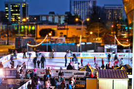 holiday on ice ice skating rink in uptown charlotte north carolina
