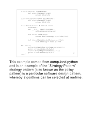 software design pattern strategy the lack of design patterns in python