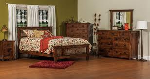 33 stick mission bedroom set in oak solid wood amish furniture