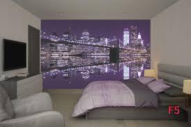 mural brooklyn bridge mirror image in purple wallpapers mural brooklyn bridge mirror image in purple