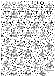 coloring pages for islamic ornament mosaic islamic arts