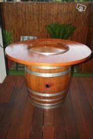 Barrel Bar Table Patio Pub Table Foter