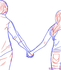 pencil sketch of boy and holding hands hand sketch holding