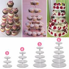 transparent acrylic cake stand round cup cupcake holder wedding