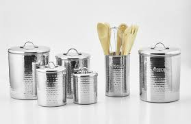Tin Kitchen Canisters Old Dutch Hammered 4 Piece Kitchen Canister Set U0026 Reviews Wayfair
