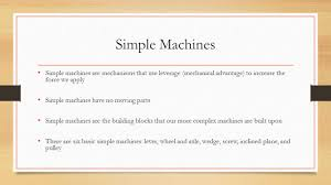 Simple Machines Pulley Worksheet Simple Machines Simple Machines Are Mechanisms That Use Leverage