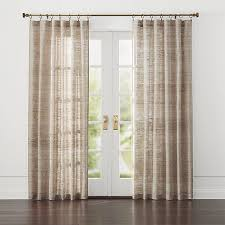White Silk Curtains Hayden Silk Curtains Crate And Barrel