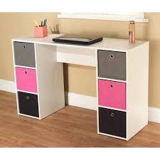 Walmart Com Computer Desk student writing desk with 6 fabric bins multiple colors walmart com