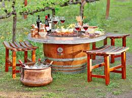 wine barrel fire table image result for wine barrel fire pits a perfect fire place inside