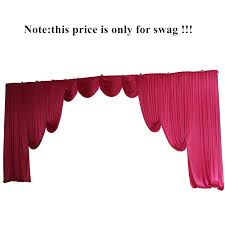 Curtain Drapes For Weddings Aliexpress Com Buy Pink Wedding Backdrop Swag Only For