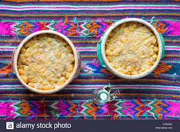 pots cuisine d oration baked beans in traditional clay pots with ethno decoration stock
