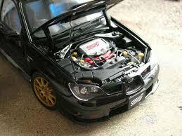subaru autoart subaru impreza wrx sti 2006 black autoart diecast model car 1 18