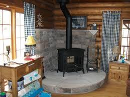 attractive traditional log cabin bedroom interior design feature