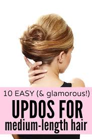 directions for easy updos for medium hair best 25 updos for medium length hair tutorial ideas on pinterest