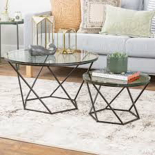 fetching modern chrome and glass nesting table n thippo