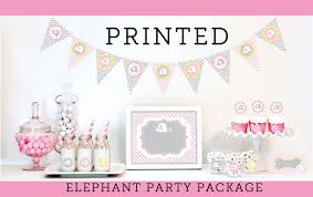 elephant baby shower decorations supplies kit themes for girls
