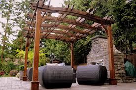 kontiki shade u0026 cooling wooden pergolas 10 u0027x12 u0027 breeze pergola
