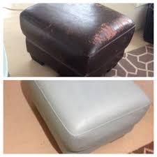 annie sloan chalk paint on a peeling faux leather ottoman my