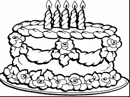 astounding happy birthday cake coloring page with birthday