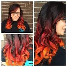 notwalk ct black hair orange over pink hair curls flames google search hair apparent
