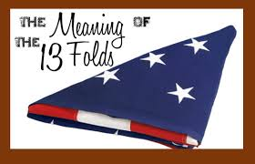 Flag Folded Into Triangle Military Funerals U0026 Meaning Of 13 Folds Gene Mcvay On Guard