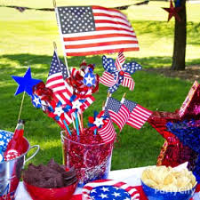 Fourth Of July Door Decorations Diy American Flag Bandana Garland Idea Patriotic Party Ideas