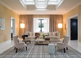 Geometric Printed Carpet And Beige Wall Color Using Stylish - Family room carpet