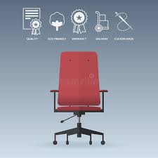 Office Chair Free Delivery Red Office Chair In Flat Design With Service Icons Set Vector