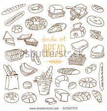 set of various doodles hand drawn rough simple sketches of