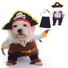 Dog Cat Pirate Costume Christmas Halloween Small Dog Jacket