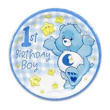 1st birthday boy care bears 1st birthday boy 8 dessert plates party supplies ebay