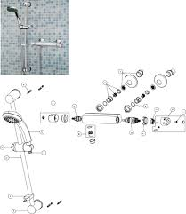 bristan solo thermostatic bar shower with riser kit chrome