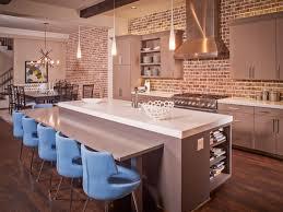 interior wonderful exposed brick kitchen backsplash grey color