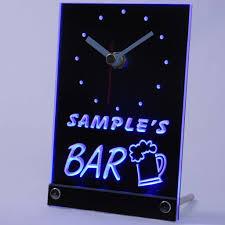 Dallas Cowboys Home Decor Tncpv Tm Beer Mug Bar Personalized Pub Decor Neon Led Table Clock