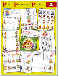 free printable preschool pack winnie the pooh teach it