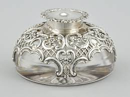 Silver Desk Accessories by 1299 Best Antique Inkwells Images On Pinterest Fountain Pens
