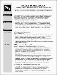 quality assurance resume quality and quality assurance resume sales quality