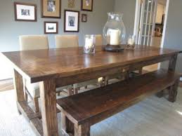 dining tables farmhouse table with bench rustic grey round
