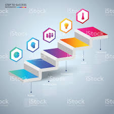 Stair Elements by Infographics 3d Stair Step To Success Concept Business Timeline