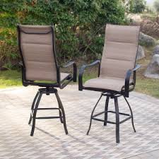 Hton Bay Swivel Patio Chairs Aluminum Outdoor Bar Stools Hayneedle