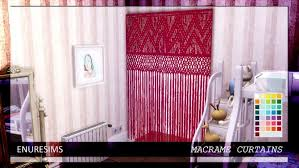 macramé curtains at enure sims sims 4 updates